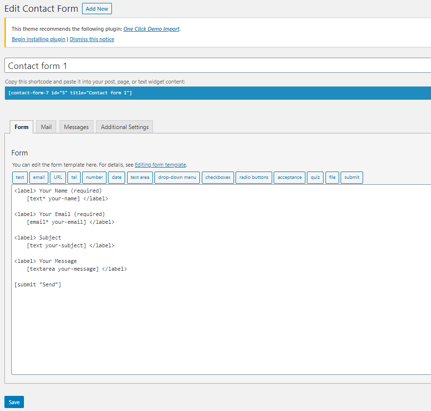 How to set up Contact Form 7
