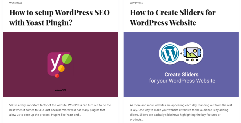 featured image in wordpress