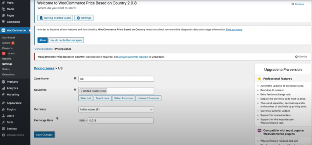 Product Price Based on Country